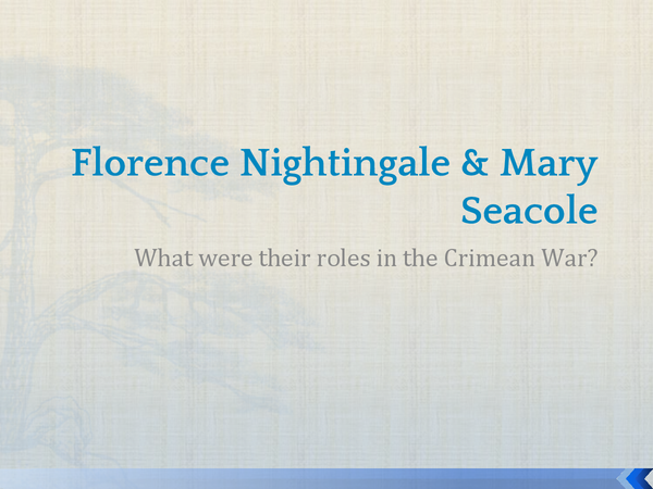 Preview of Florence Nightingale & Mary Seacole