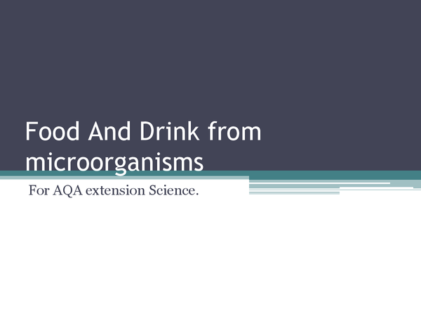 Preview of Food and Drink from microorganisms