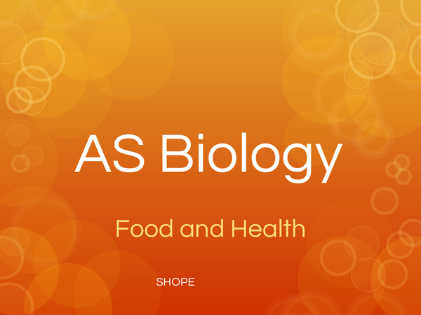 Preview of Food and Health - OCR Biology