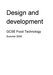 Preview of Food Technology, Design and Development