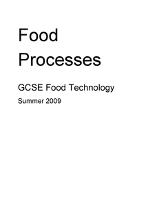 Preview of Food Technology, Food Processes