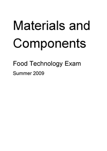 Preview of Food Technology, Materials and Components