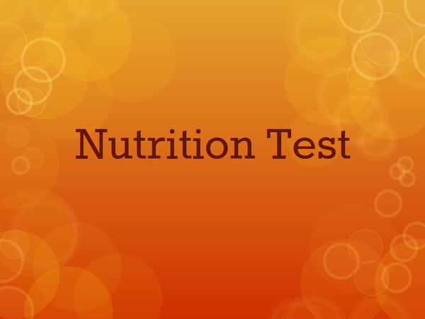 Preview of Food Technology Nutrition Information