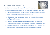 Preview of GCSE Geography - Formation of a Tropical Storm