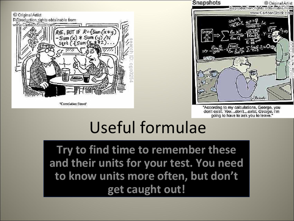 Preview of Formulae for Additional Applied AQA