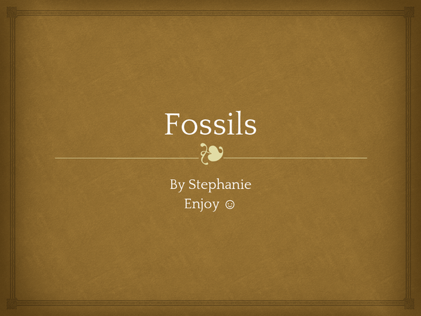 Preview of Fossils