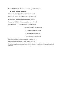 Preview of FP2 - Complex Numbers - Proof of de Moivre's Theorem
