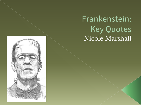 Preview of Frankenstein: Key Quotes