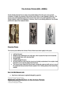 Preview of Greek Free-Standing Sculpture