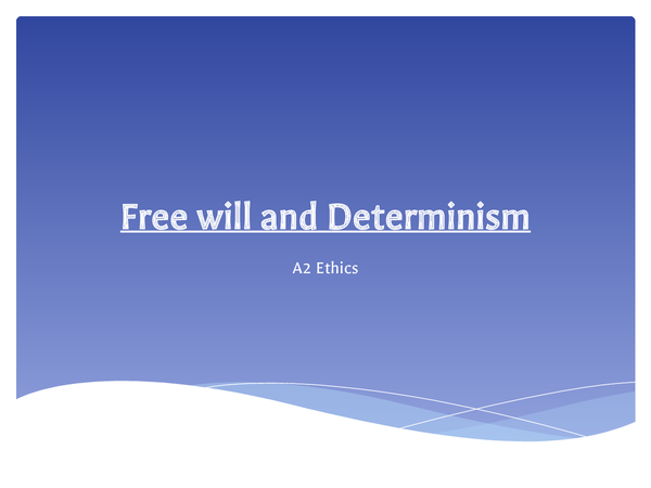 Preview of Free Will and Determinism