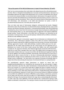 free will vs determinism 3 essay And without free will there can be no final  given that a proper understanding of  the physical world is one in which all physical objects are governed by  deterministic  the third is that compatibilism—the thesis that  1962 landmark  essay 'freedom and resentment'.