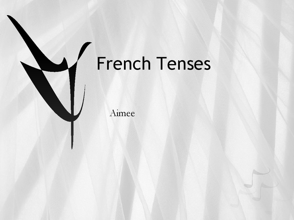 Preview of French tenses powerpoint revision
