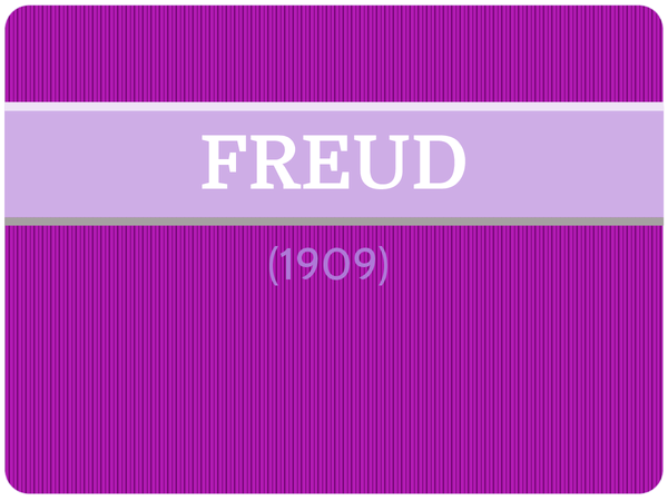Preview of Freud (1909) - AS Core Study