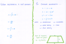 Preview of FSMQ - constant and variable acceleration equations