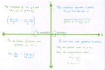 Preview of FSMQ - Coordinate Geometry formulae