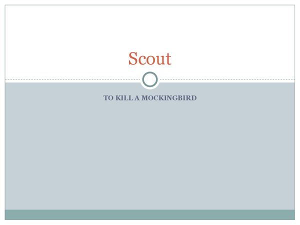 Preview of Full Character Analysis of Scout - To Kill a Mockingbird