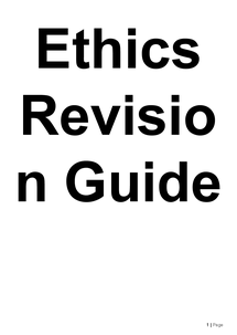 Preview of Full Ethics Course Revision Book
