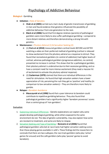 Preview of (Full Notes) Biological, Cognitive and Learning Approach
