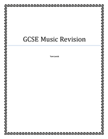 Preview of Full revision notes of OCR Music