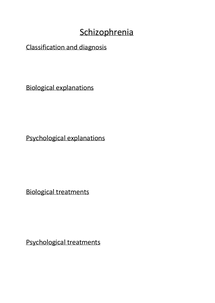Preview of FULL SCHIZOPHRENIA REVISION NOTES