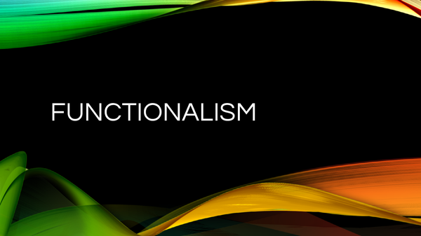 Preview of Functionalism