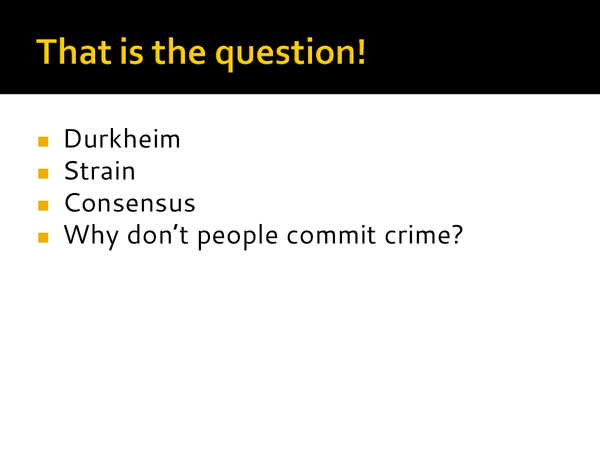 Preview of Functionalism and crime