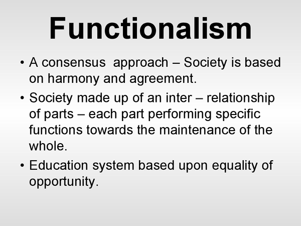 Preview of Functionalism and Education