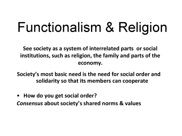 Preview of Functionalism and Religion