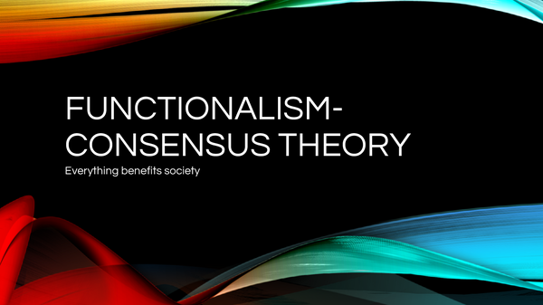 Preview of functionalism consensus theory