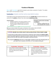 Preview of Functions of Education
