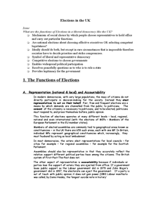 Preview of functions of elections
