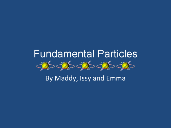 Preview of Fundamental particles