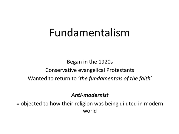 Preview of Fundamentalist