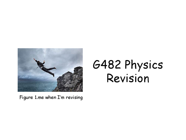 Preview of G482 Electrons, waves and photons revision (AS Physics)