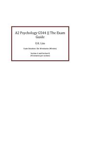 Preview of G544 Exam Handbook