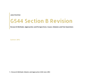 Preview of G544 Revision Booklet