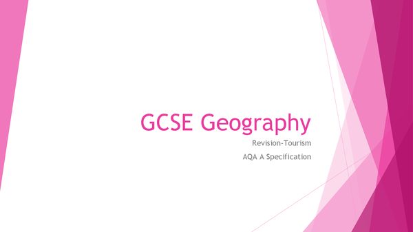 Preview of GCSE AQA Geography tourism revision powerpoint