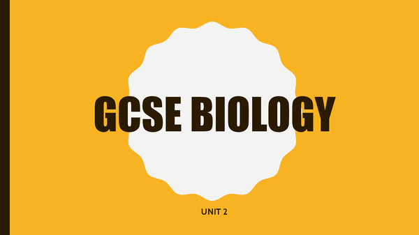 Preview of GCSE Unit 2 Biology Full Notes