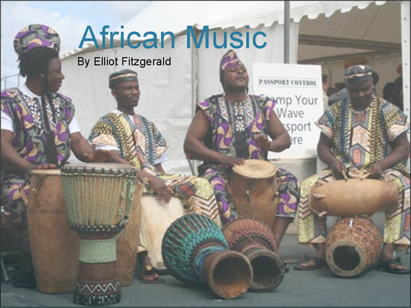 Preview of GCSE African Music (Edexcel, 2010 exam)