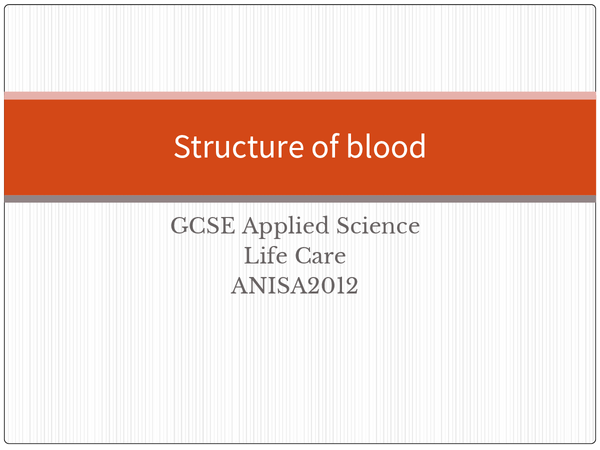 Preview of GCSE Applied Science Life Care