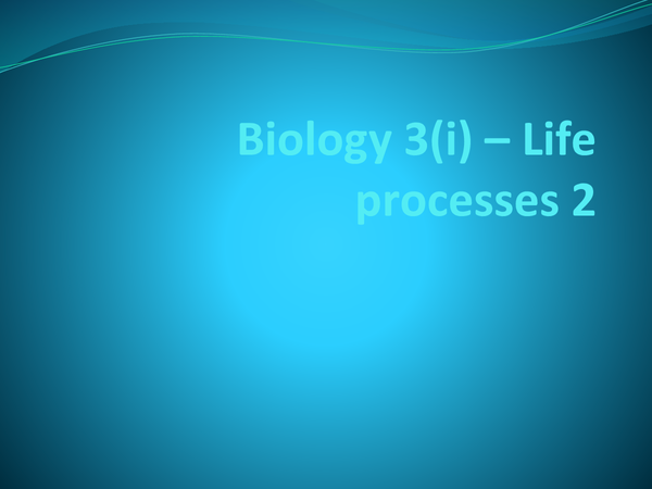 Preview of GCSE AQA Biology 3(i)