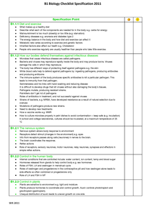 Preview of GCSE AQA Biology B1- Checklist [HIGHER TIER]