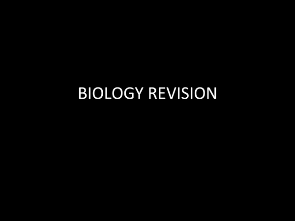 Preview of GCSE AQA Biology Unit 1