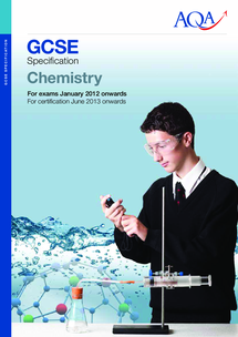 Preview of GCSE AQA CHEMISTRY SPECIFICATION