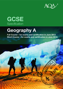 Preview of GCSE AQA GEOGRAPHY SPECIFICATION