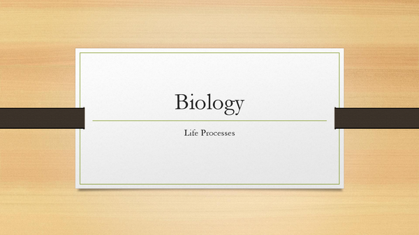 Preview of GCSE Biology B3a- Life Processes