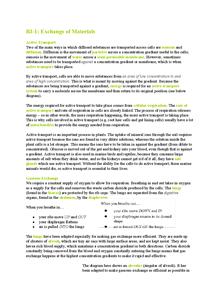 Preview of GCSE Biology Unit 3 Notes