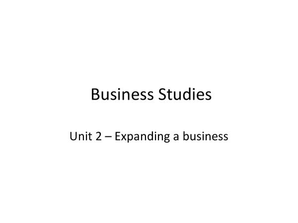 Preview of GCSE Business Studies AQA Unit 2 revision notes