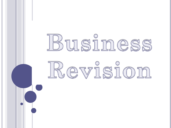 Preview of GCSE Business Studies Revision Notes
