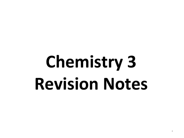Preview of GCSE Chemistry 3 Revision Notes